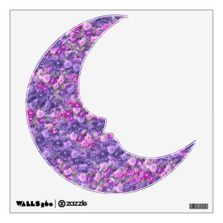 Vintage Gothic Rose Lavender Purple Wall Decal