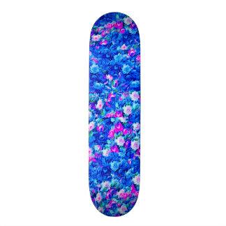 Vintage Gothic Rose Pink and Blue Skateboard Decks