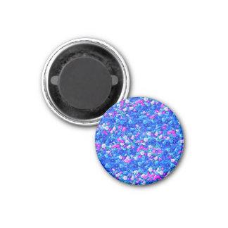Vintage Gothic Rose Pink Blue Magnets