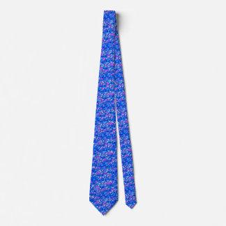 Vintage Gothic Rose Pink Blue Tie
