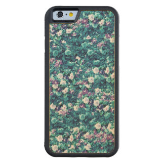 Vintage Gothic Rose Purple Faded Jade Carved® Maple iPhone 6 Bumper