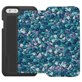 Vintage Gothic Rose Purple Faded Jade iPhone 6/6s Wallet Case