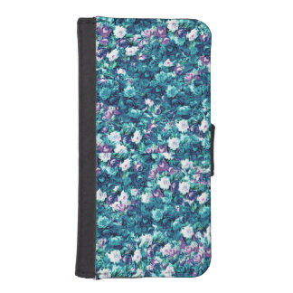 Vintage Gothic Rose Purple Faded Jade Wallet Phone Case For iPhone SE/5/5s
