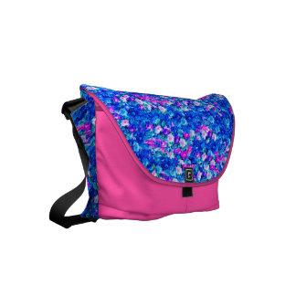 Vintage Gothic Rose Violet Dazzling Blue Small Messenger Bag