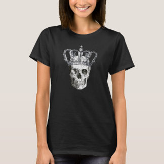 Vintage Gothic Skull with Queens Crown T-Shirt