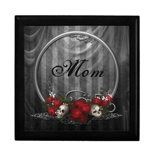 Vintage Gothic Skulls & Roses Mom Jewelry Box