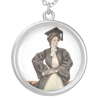 Vintage Graduate Silver Plated Necklace