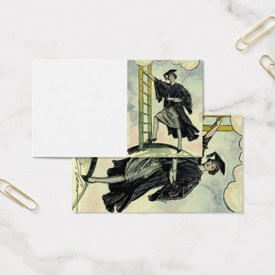 Vintage Graduation, Climbing the Corporate Ladder Business Card