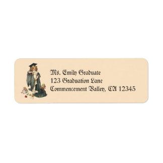 Vintage Graduation, Congratulations Graduates! Label