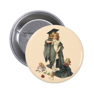 Vintage Graduation, Congratulations Graduates! Pinback Button
