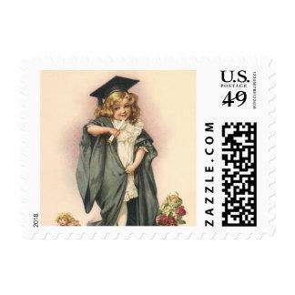 Vintage Graduation, Congratulations Graduates! Postage Stamp