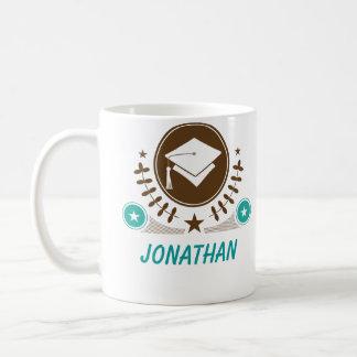 Vintage Graduation Logo Personalized Classic White Coffee Mug