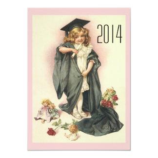Vintage Graduation Party Invitations Roses & Dolls