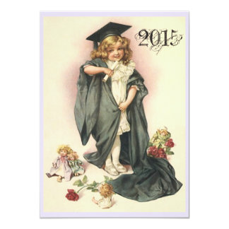 Vintage Graduation Party Invitations Roses Dolls