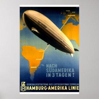 Vintage - Graf Zeppelin Travel Poster de los años