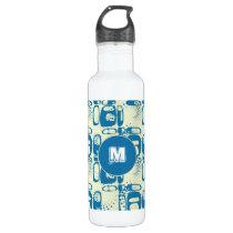 Vintage Graffiti seamless pattern Water Bottle