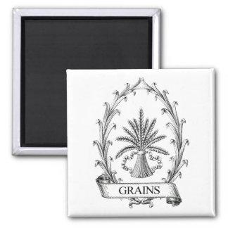 Vintage grain sack label art magnet