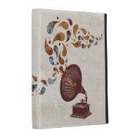 Vintage Gramophone iPad folio iPad Folio Covers
