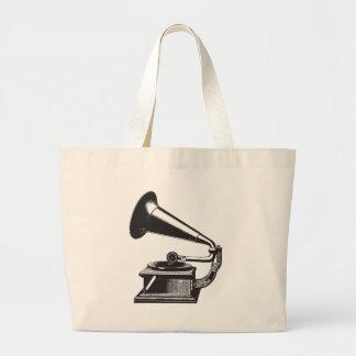 Vintage Gramophone Large Tote Bag
