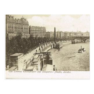 Vintage Gran Bretaña, Londres, terraplén 1900 Tarjetas Postales