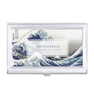 vintage, gran onda, 葛飾北斎の神奈川沖浪 de Hokusai Cajas De Tarjetas De Presentación