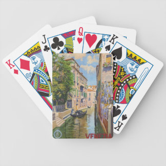 Vintage Grand Canal Gondolas Venice Italy Travel Bicycle Playing Cards