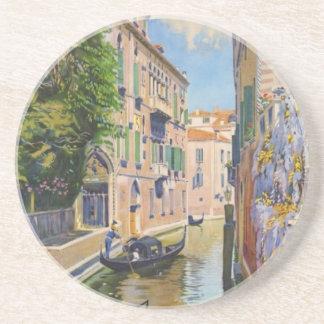 Vintage Grand Canal Gondolas Venice Italy Travel Coaster