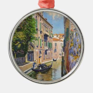 Vintage Grand Canal Gondolas Venice Italy Travel Metal Ornament