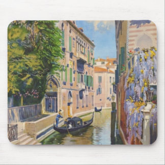 Vintage Grand Canal Gondolas Venice Italy Travel Mouse Pad