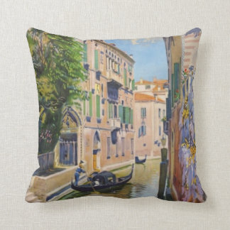 Vintage Grand Canal Gondolas Venice Italy Travel Throw Pillow