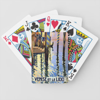 Vintage Grand Canal Venice Italy Travel Bicycle Playing Cards
