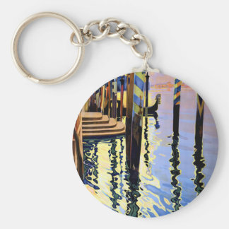 Vintage Grand Canal Venice Italy Travel Keychain