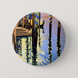 Vintage Grand Canal Venice Italy Travel Pinback Button