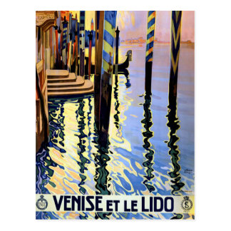 Vintage Grand Canal Venice Italy Travel Postcard