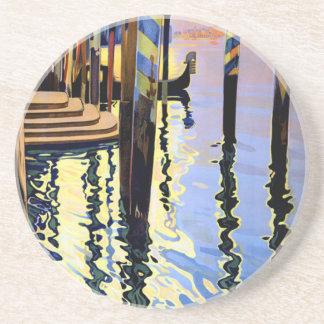Vintage Grand Canal Venice Italy Travel Sandstone Coaster