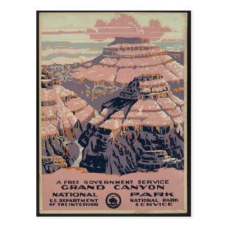 Vintage Grand Canyon art Post Card