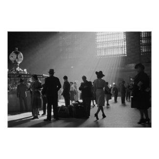 Vintage Grand Central Station Poster New York City