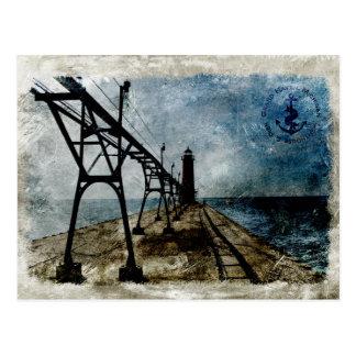 Vintage Grand Haven Lighthouse Postcard