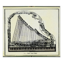 Vintage Grand Piano Poster