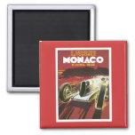 Vintage Grand Prix Mónaco Imán De Frigorifico
