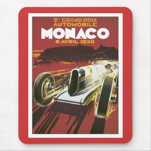 Vintage Grand Prix Monaco Mouse Pad