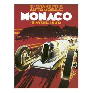 Vintage Grand Prix Mónaco Postal