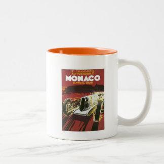 Vintage Grand Prix Monaco Two-Tone Coffee Mug