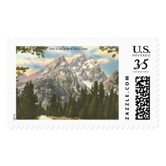 Vintage Grand Teton Stamp