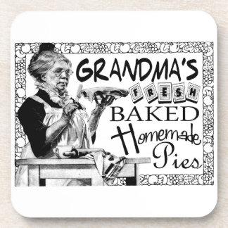 Vintage Grandma's Homemade Pies Gifts Coasters
