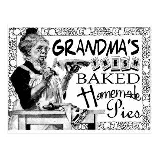 Vintage Grandma's Homemade Pies Gifts Postcard