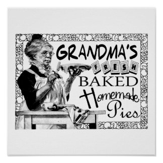 Vintage Grandma's Homemade Pies Gifts Poster