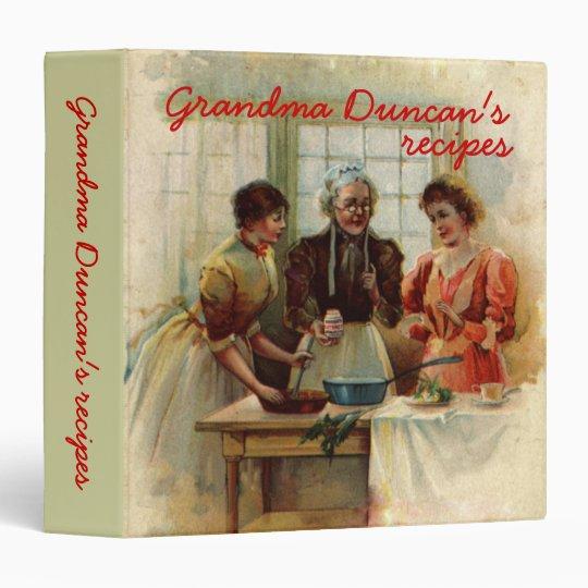 Vintage Grandma's recipes binders