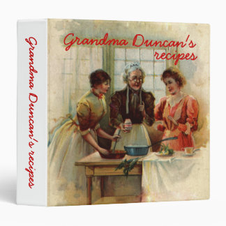 Vintage Grandma's recipes binders
