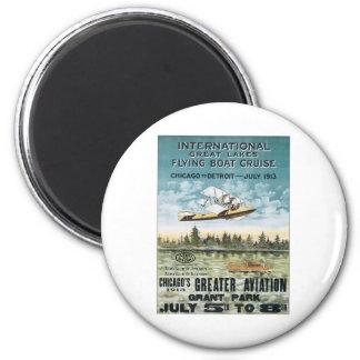 Vintage Grant Park Chicago 2 Inch Round Magnet